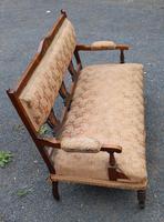 1920s Elegant 3 Seater Mahogany Sofa with Inlay Detailing (2 of 4)
