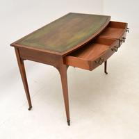 Antique Satinwood Inlaid Mahogany Writing Table / Desk (8 of 12)