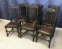 Set of Six Oak Dining Chairs (2 of 11)