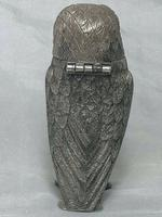 Beautiful Rare Small Hallmarked Silver Owl Mustard Pot After George Fox (9 of 12)