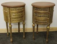 Two near identical louis XIV style bedsides