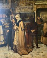 Substantial 19th Century Flemish Oil Painting of Locals in Brugge by Dumont (6 of 21)