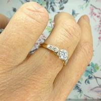 Art Deco 18ct Platinum Diamond Solitaire Engagement Ring 0.35ct (6 of 10)