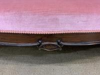 Large Victorian Carved Rosewood Settee (8 of 12)