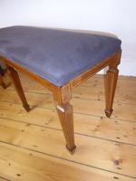 Scottish Rosewood Upholstered Stool (4 of 8)