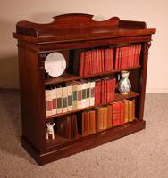 Open Bookcase in Mahogany 19th Century - England (4 of 9)