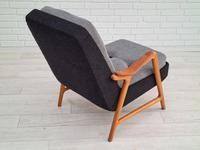 Danish Design, 60s, Completely Restored Armchair, Furniture Wool (3 of 16)
