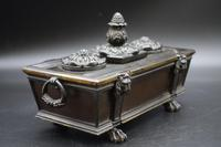 Charming Late 19th Century Bronze Sarcophagus Desk Set (4 of 5)