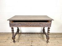 Antique 19th Century Carved Oak Table (6 of 11)
