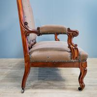Mahogany Carved Couch (4 of 9)