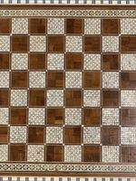Rosewood bone and mother of Pearl chess board (7 of 7)
