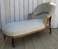 Antique French Chaise Longue Day Bed for re-upholstery (6 of 9)
