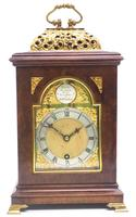 Stunning Burr Walnut Basket Top Bracket Clock by Charles Frodsham Clock Makers to The King (8 of 12)