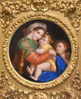 Porcelain Plaque of the Madonna Della Sedia by Raphael (4 of 9)