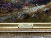 (1of2) Huge Exceptional 19thc Snowdonia Welsh Mountain Landscape Oil Painting (13 of 15)