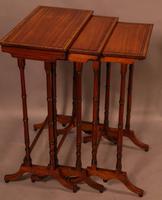 Regency Nest of Three Tables in Satinwood (6 of 8)