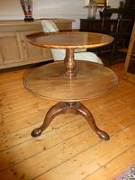 English 18th Century Two Tier Round Table (8 of 9)