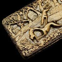 Georgian Solid Silver Gilt Snuff Box With Spectacular Fox Hunting Scene - Edward Smith 1832 (3 of 22)