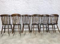 Matched Set of 6 Windsor Lathback Kitchen Chairs (4 of 7)