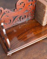 19th Century Rosewood Fretwork Bookstand (5 of 5)
