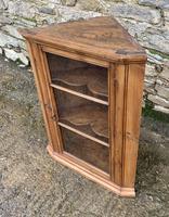 Antique Pine & Elm Hanging Corner Cupboard (5 of 11)