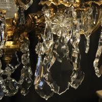 Italian Gilded Bronze & Crystal Chandelier (5 of 6)