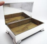 Good Quality Antique 1914 Solid Sterling Silver English Cigarette Cigar Trinket Jewelry Casket Case Box (5 of 9)