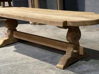 Large Rustic French Bleached Oak Farmhouse Dining Table (34 of 40)