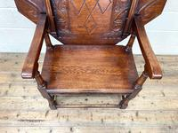 Large Early 20th Century Antique Oak Monk's Seat (5 of 10)