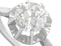 1.48ct Diamond & 18ct White Gold Solitaire Ring - Antique French c.1920 (3 of 9)