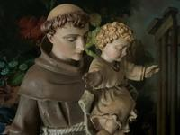Bohumil Kafka RARE Carved Statue Sculpture St Anthony & Jesus (18 of 32)