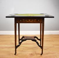 Victorian Rosewood Inlaid Envelope Card Table (5 of 10)