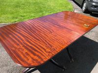 Antique Mahogany Twin Pillar Extending Dining Table (11 of 11)