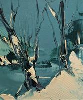 George Richard Deakins Superb Winter Landscape Oil Painting (5 of 11)