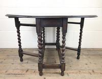 Early 20th Century Antique Oak Gateleg Table (9 of 12)