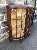 Antique Walnut China Display Cabinet (4 of 10)