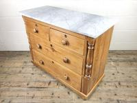 Antique Pine & Marble Chest of Drawers (5 of 15)