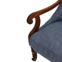 19th Century Buttoned Show Wood Chair (4 of 8)