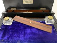 Antique Amboyna Mother of Pearl Inlaid Writing Slope Lap Box (7 of 19)