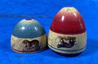 19th Century Skittles Game in Tunbridge Ware White Wood Painted Egg (5 of 21)