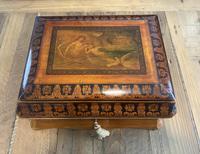 William IV Birch Penwork Jewellery Box (12 of 16)