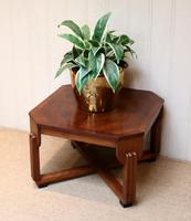 Low Walnut Art Deco Table (4 of 12)
