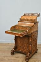 Victorian Walnut Pop Up Piano Davenport Writing Desk (7 of 8)
