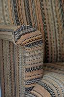 Antique Oak Legged  Afghan Kelim Covered Chair (6 of 10)