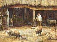 "Watercolour ""Tending The Sheep"" By Bertha Rhodes RA Rca Exh 1905 -1912 (2 of 41)"