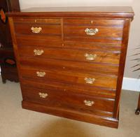 Large Late Victorian Walnut Chest of Drawers (2 of 5)