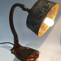Arts & Crafts Copper Table Lamp (3 of 9)