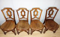 Set of Four Light Mahogany Victorian Hall Chairs (2 of 6)