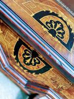 Antique Victorian Inlaid Burr Walnut Davenport Writing Desk (8 of 12)