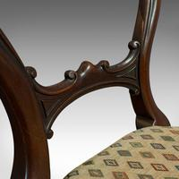 Antique Set of 6 Dining Chairs, English, Walnut, Balloon Back, Victorian c.1850 (10 of 12)